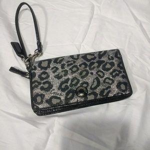 Coach Wallet Wristlet, Cool Black Silver Design
